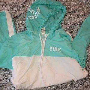 PINK windbreaker/ rain jacket